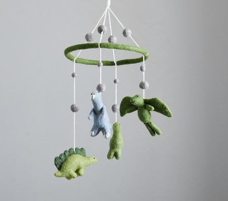 Felted Dinosaur Ceiling Mobile