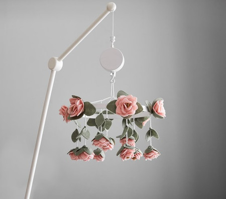 Felted Roses Mobile