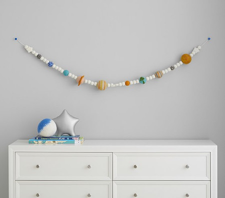 Felted Wool Planet Garland