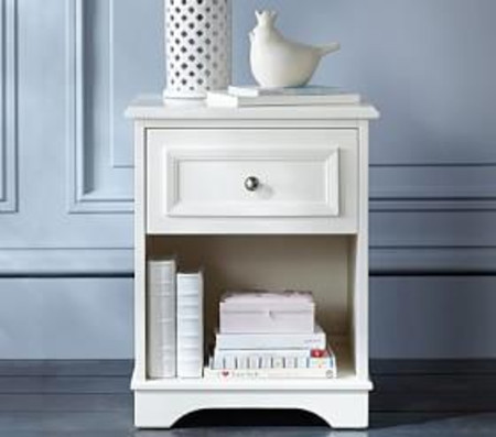 Fillmore Bedside Table - Simply White