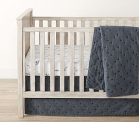 Finley Baby Bed Linen, Dark Blue