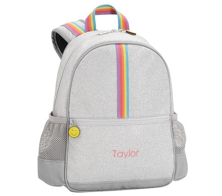 FLOUR SHOP Silver Glitter Backpack