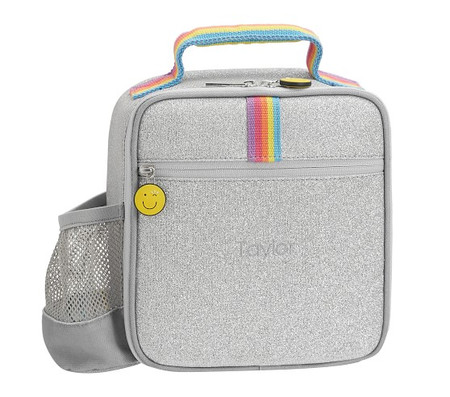 FLOUR SHOP Silver Glitter Lunch Box