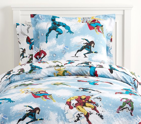 Glow-in-the-Dark Marvel Heroes Quilt Cover