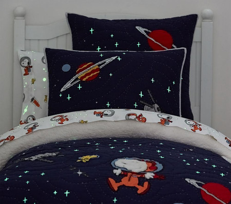 Glow-in-the-Dark Snoopy® Space Comforter