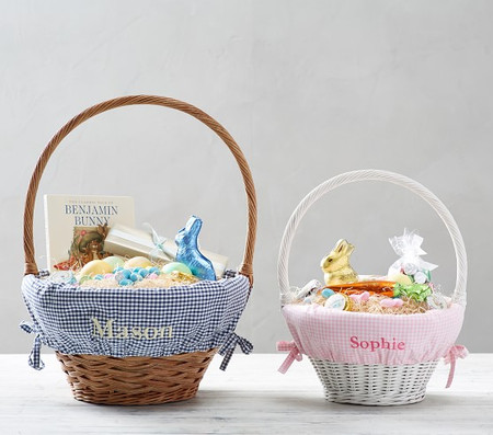 Gingham Easter Basket Liners