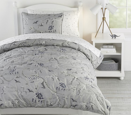 Glow-in-the-Dark Dino Bones Dream Puff Comforter