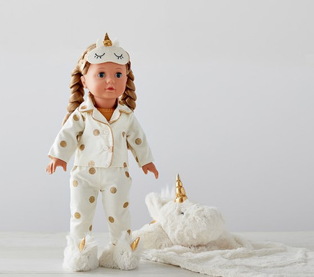 Götz Special Edition Unicorn Sleepover Doll, Allie
