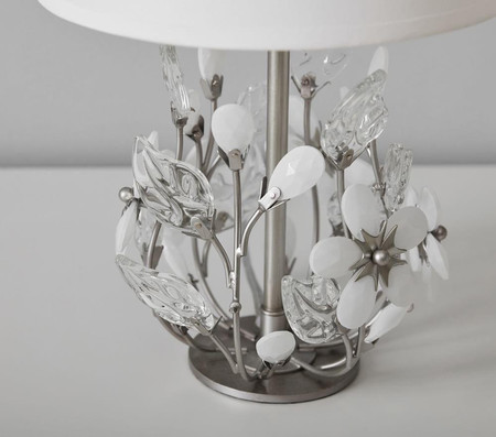 Grace White Flower Table Lamp