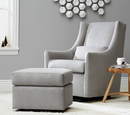 west elm x pbk Graham Glider and Ottoman