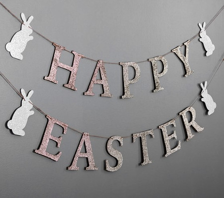 Happy Easter Glitter Garland