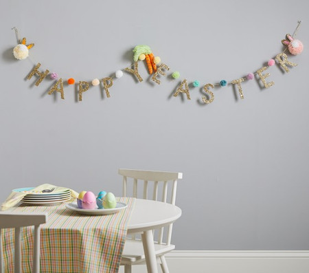 Happy Easter Pom-Pom Garland