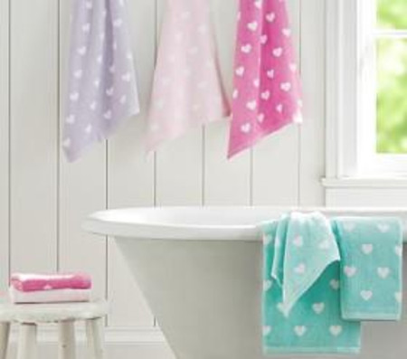 Heart Bath Towel Collection