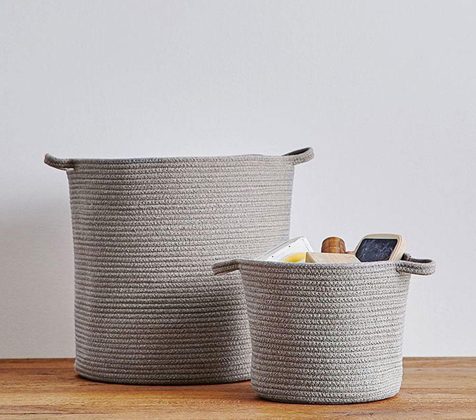 Heather Grey Sloan Cotton Rope Storage
