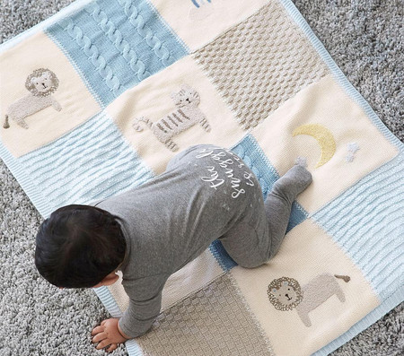 Heirloom Lion Baby Blanket