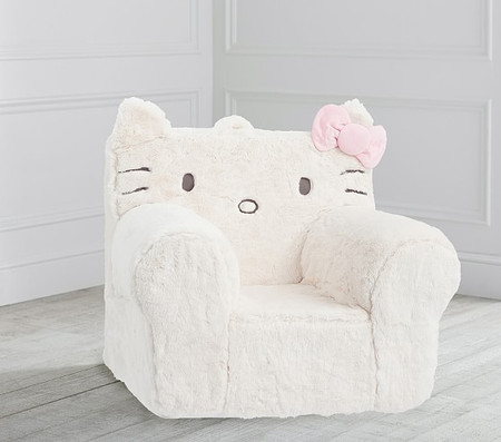 Hello Kitty® Ivory Faux Fur Anywhere Chair®