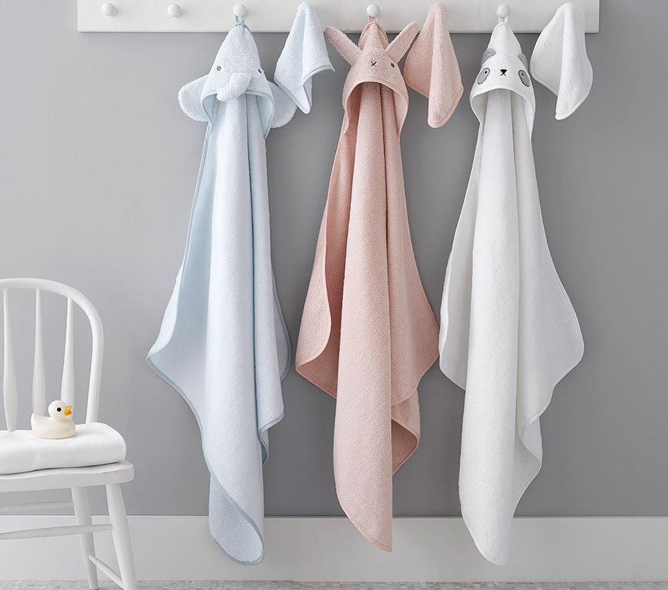 Hooded Animal Towel and Washcloth Sets
