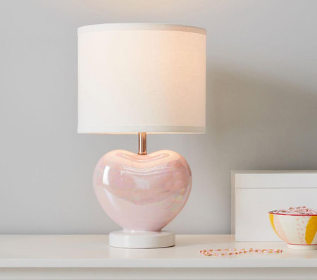 Iridescent Heart Table Lamp