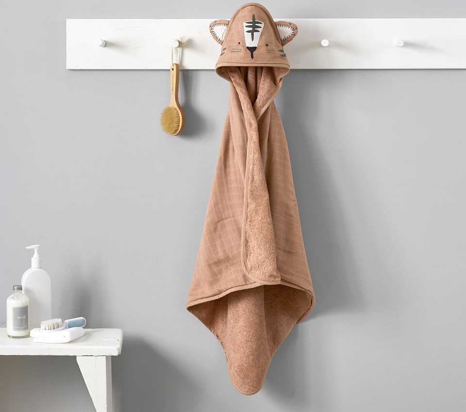 Jeremiah Brent x pbk Muslin Tiger Baby Hooded Towel