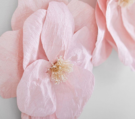 Jumbo Crepe Pink Paper Flowers Set of 2