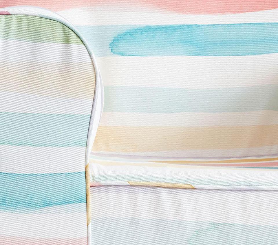 Kayla Rainbow Stripe Twill Anywhere Chair 174 Pottery Barn