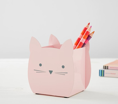 Pink Kitty Pencil Holder