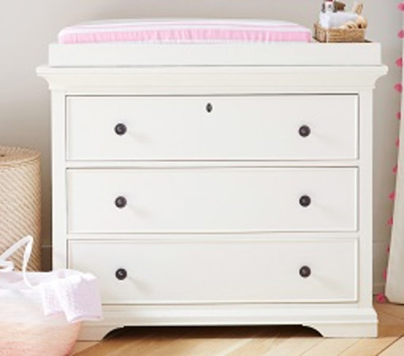 Larkin Dresser & Change Table Topper - Simply White