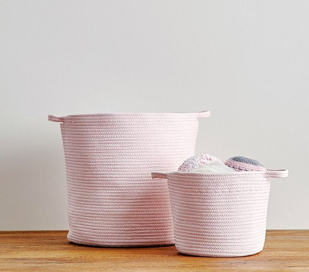 Light Pink Sloan Cotton Rope Storage