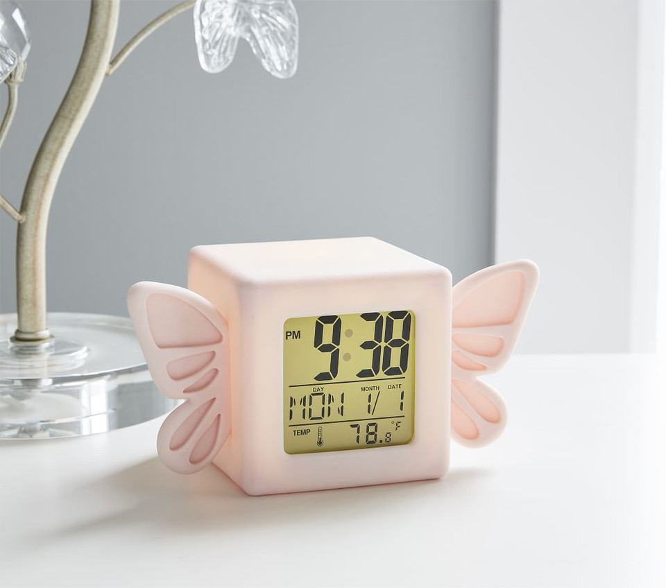 Light Up Butterfly Digital Clock