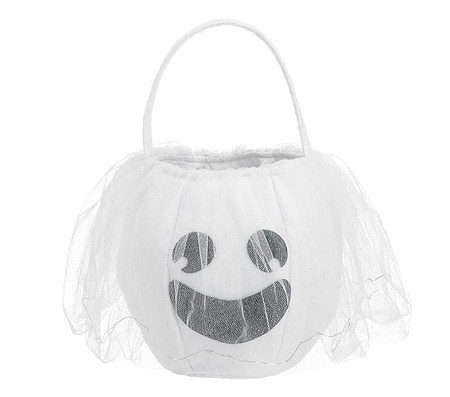 Light Up Ghost Puffy Treat Bag