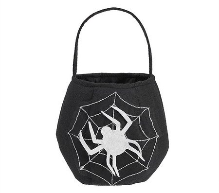 Light Up Spider Web Puffy Treat Bag