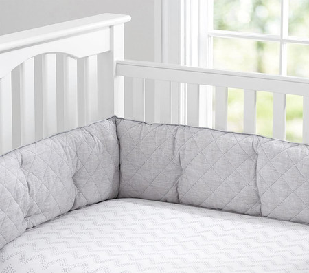 Linen Nursery Bedding - Grey