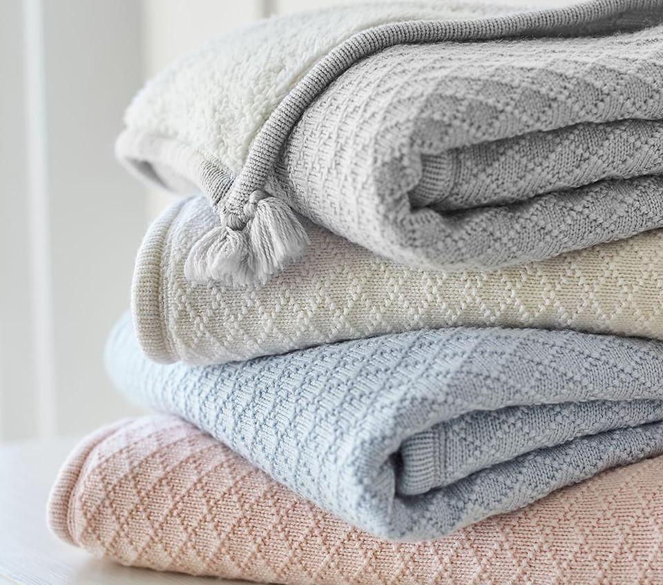 Luxe Knit Sherpa Baby Blanket Pottery Barn Kids
