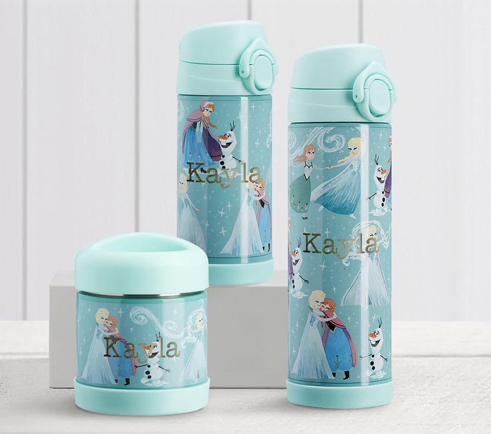 Mackenzie Aqua Disney Frozen Water Bottles & Food Storage
