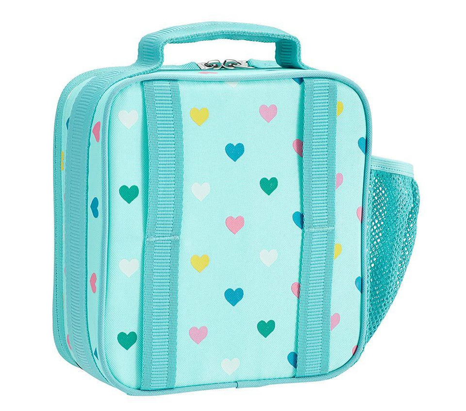 Mackenzie Aqua Multi Heart Glow In The Dark Lunch Boxes