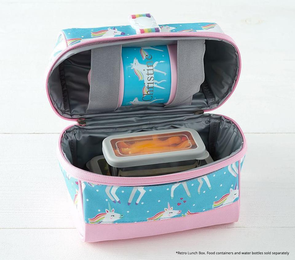 Mackenzie Aqua Multi Heart Glow In The Dark Lunch Boxes