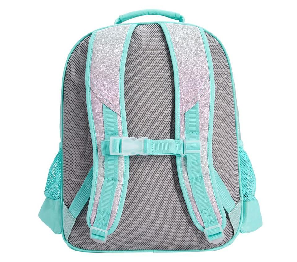 Mackenzie Aqua Sky Ombre Sparkle Glitter Backpacks