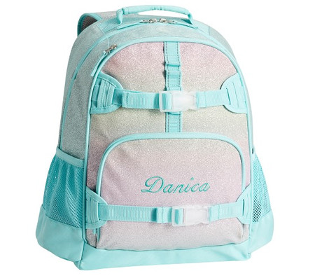 Mackenzie Aqua Sky Ombre Glitter Backpacks