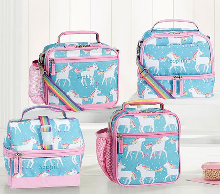 Mackenzie Aqua Unicorn Parade Lunch Box