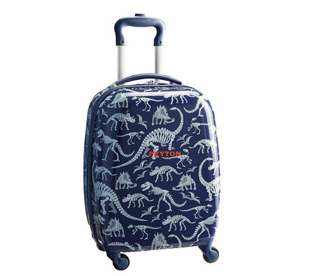 Mackenzie Blue/Grey Dino Hard Sided Luggage