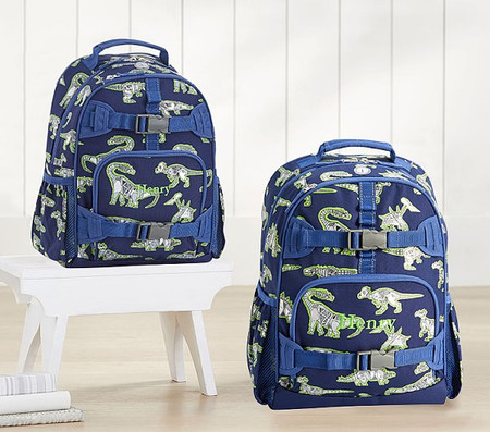 Mackenzie Blue Robo Dinosaurs Foil Backpacks