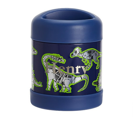 Mackenzie Blue Robo Dinosaurs Foil Hot & Cold Container