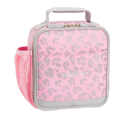 Mackenzie Pink Glitter Kitty Classic Lunch Bag