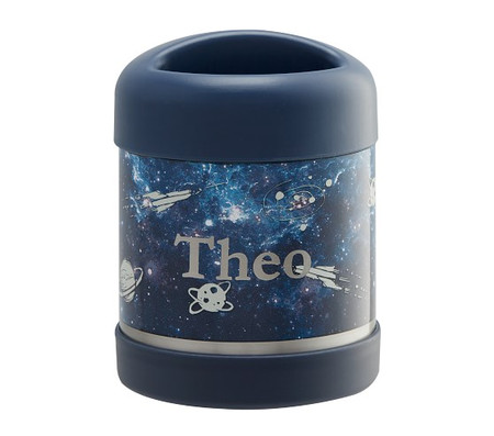 Mackenzie Navy Galaxy Glow-in-the-Dark Hot Cold Container