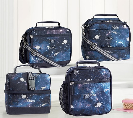 Mackenzie Navy Galaxy Glow-in-the-Dark Lunch Boxes