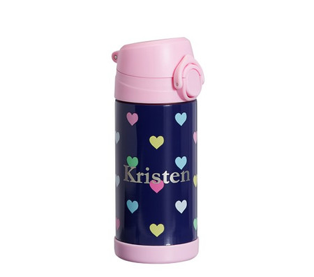 Mackenzie Navy Pink Multicolor Hearts Water Bottles & Food Storage