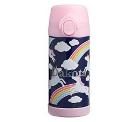 Mackenzie Navy Rainbow Unicorn Glow-in-the-Dark Water Bottles