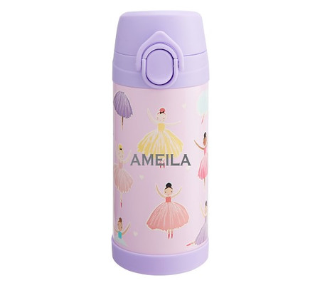Mackenzie Pink Ballet Glow-in-the-Dark Water Bottle