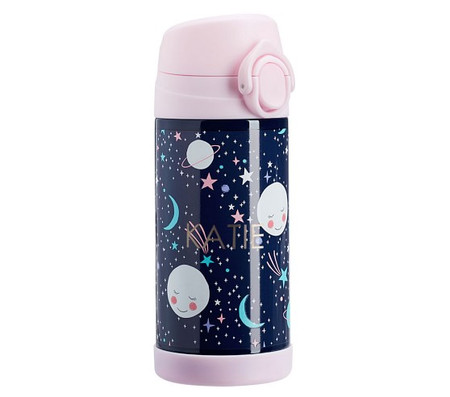 Mackenzie Pink Navy Glow-in-the-Dark Moons Water Bottles & Food Storage
