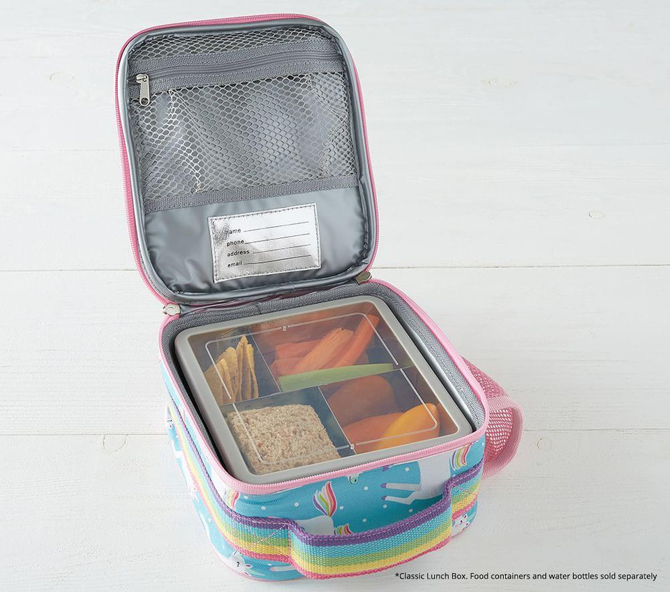 Mackenzie Pink Reflective Rainbow Lunch Boxes Pottery